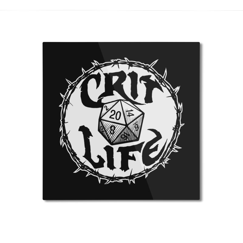 Crit Life (Light on Dark) Home Mounted Aluminum Print by Joe Abboreno's Artist Shop