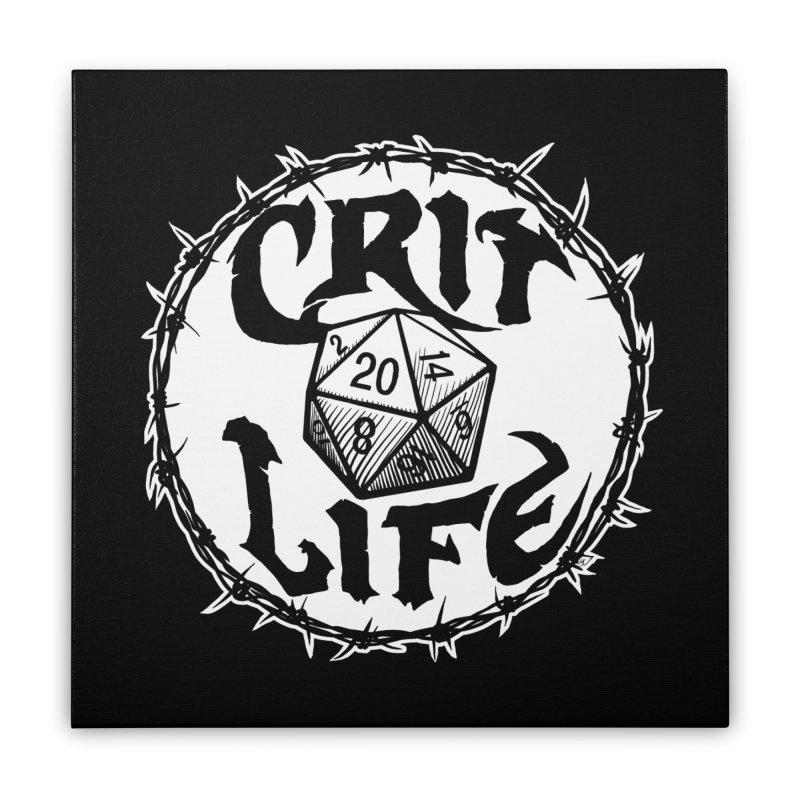 Crit Life (Light on Dark) Home Stretched Canvas by Joe Abboreno's Artist Shop