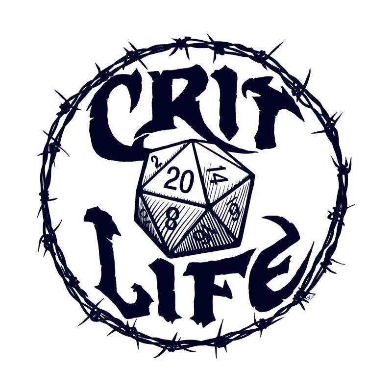 Crit Life (Dark on Light) Men's T-Shirt by Joe Abboreno's Artist Shop