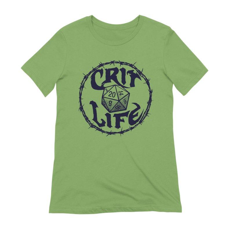 Crit Life (Dark on Light) Women's Extra Soft T-Shirt by Joe Abboreno's Artist Shop