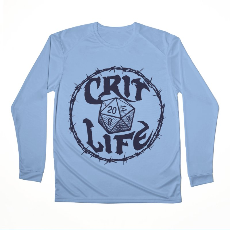 Crit Life (Dark on Light) Men's Performance Longsleeve T-Shirt by Joe Abboreno's Artist Shop