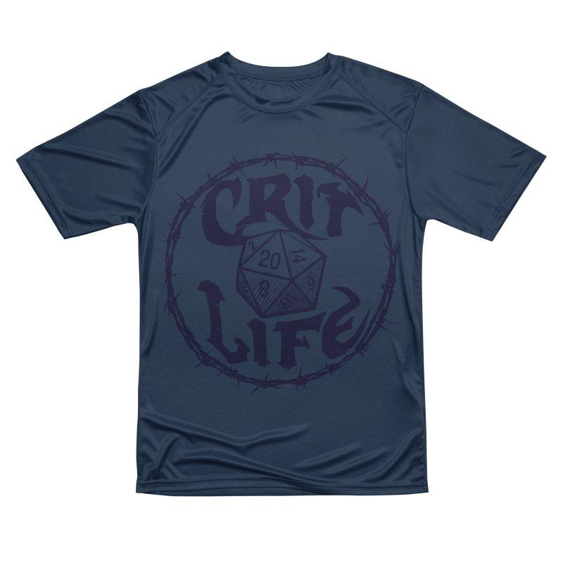 Crit Life (Dark on Light) Men's Performance T-Shirt by Joe Abboreno's Artist Shop