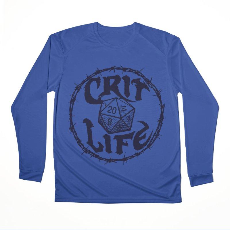 Crit Life (Dark on Light) Women's Performance Unisex Longsleeve T-Shirt by Joe Abboreno's Artist Shop