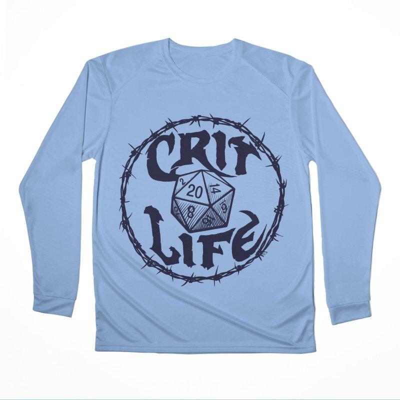 Crit Life (Dark on Light) Women's Longsleeve T-Shirt by Joe Abboreno's Artist Shop