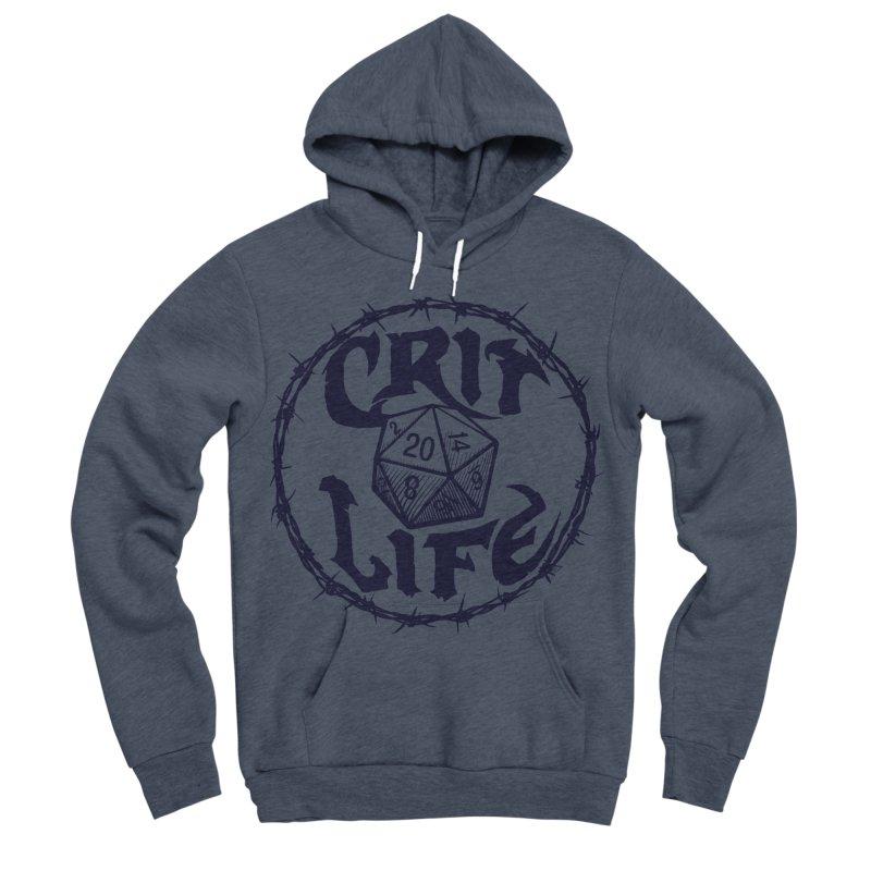 Crit Life (Dark on Light) Men's Sponge Fleece Pullover Hoody by Joe Abboreno's Artist Shop
