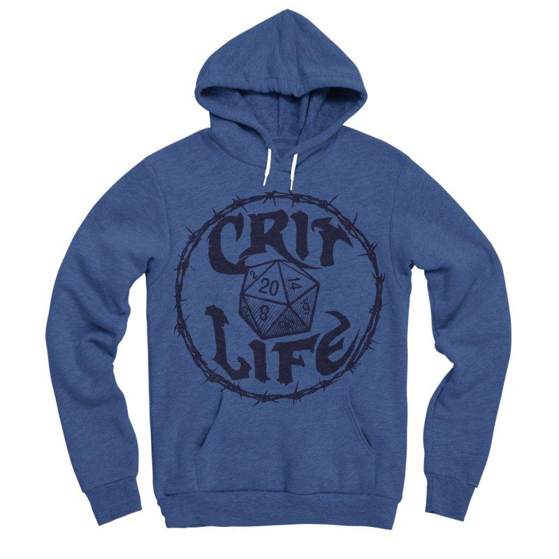 Crit Life (Dark on Light) Women's Sponge Fleece Pullover Hoody by Joe Abboreno's Artist Shop