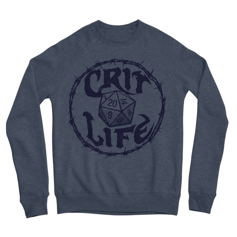 Crit Life (Dark on Light) Men's Sponge Fleece Sweatshirt by Joe Abboreno's Artist Shop