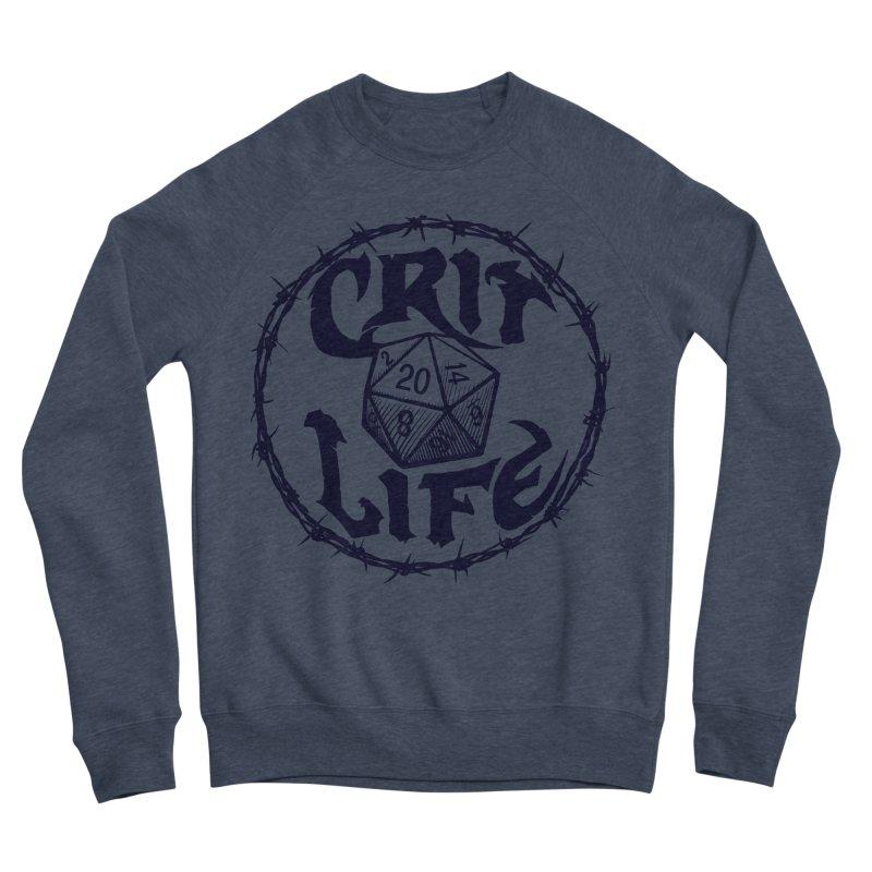 Crit Life (Dark on Light) Women's Sponge Fleece Sweatshirt by Joe Abboreno's Artist Shop
