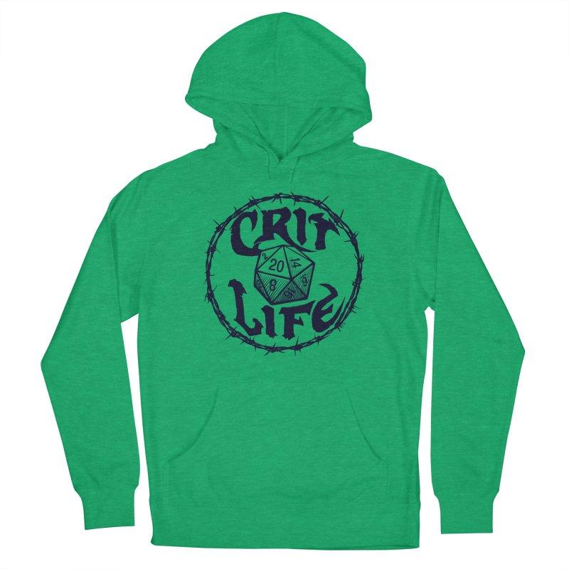 Crit Life (Dark on Light) Men's French Terry Pullover Hoody by Joe Abboreno's Artist Shop
