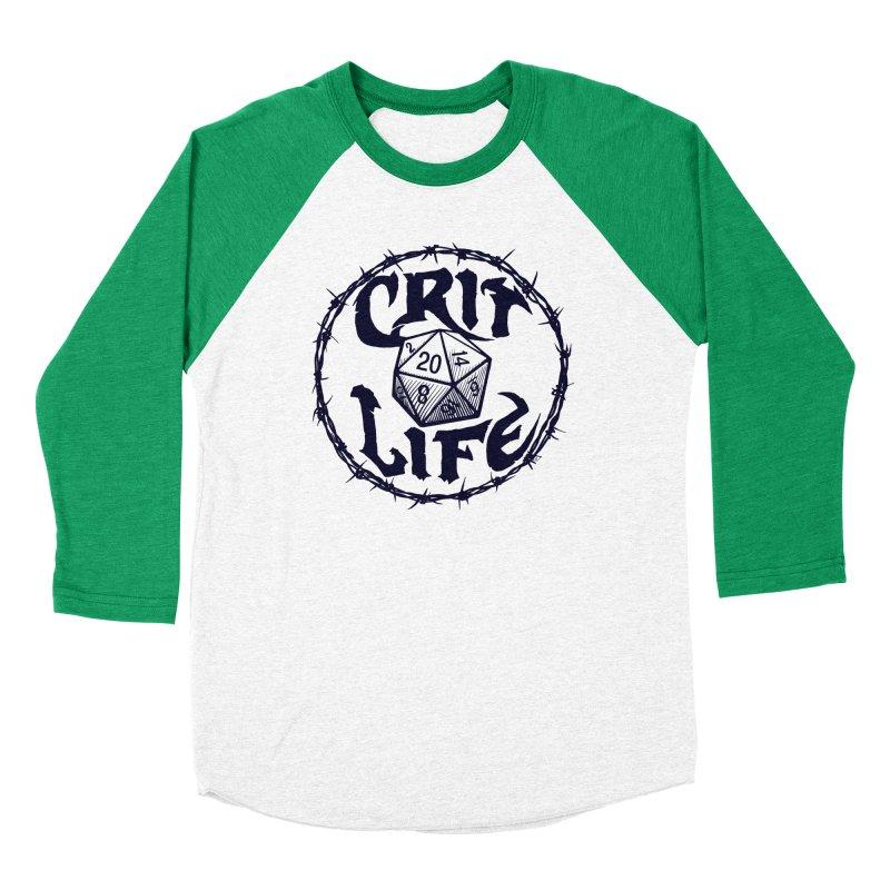 Crit Life (Dark on Light) Women's Baseball Triblend Longsleeve T-Shirt by Joe Abboreno's Artist Shop