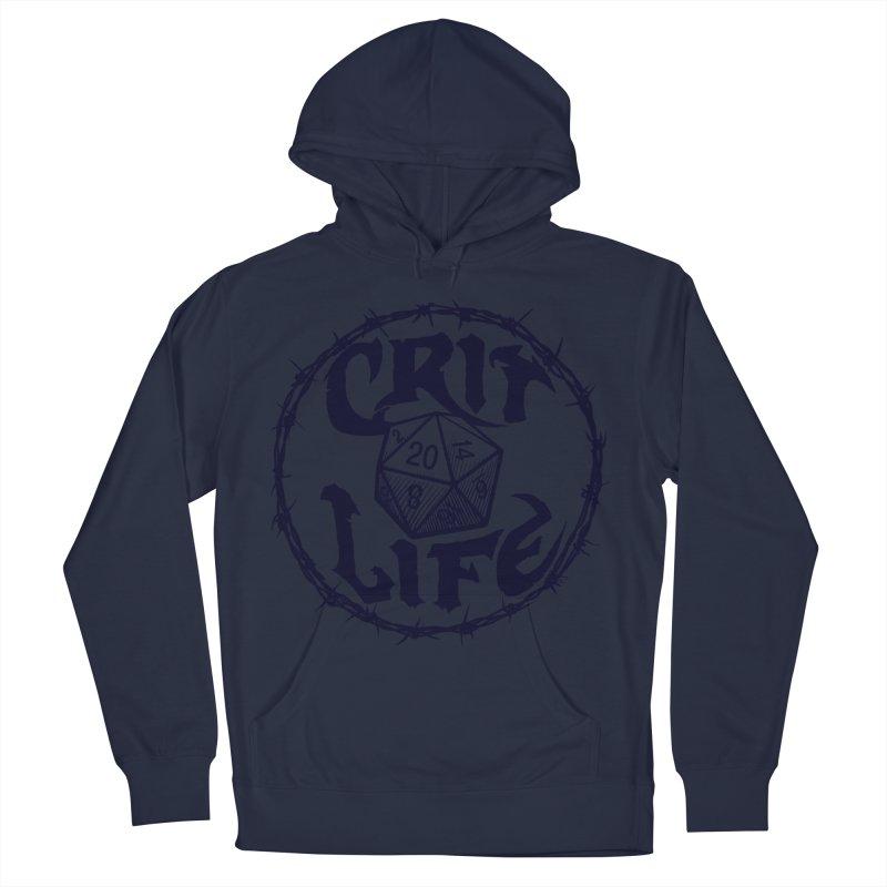 Crit Life (Dark on Light) Women's French Terry Pullover Hoody by Joe Abboreno's Artist Shop