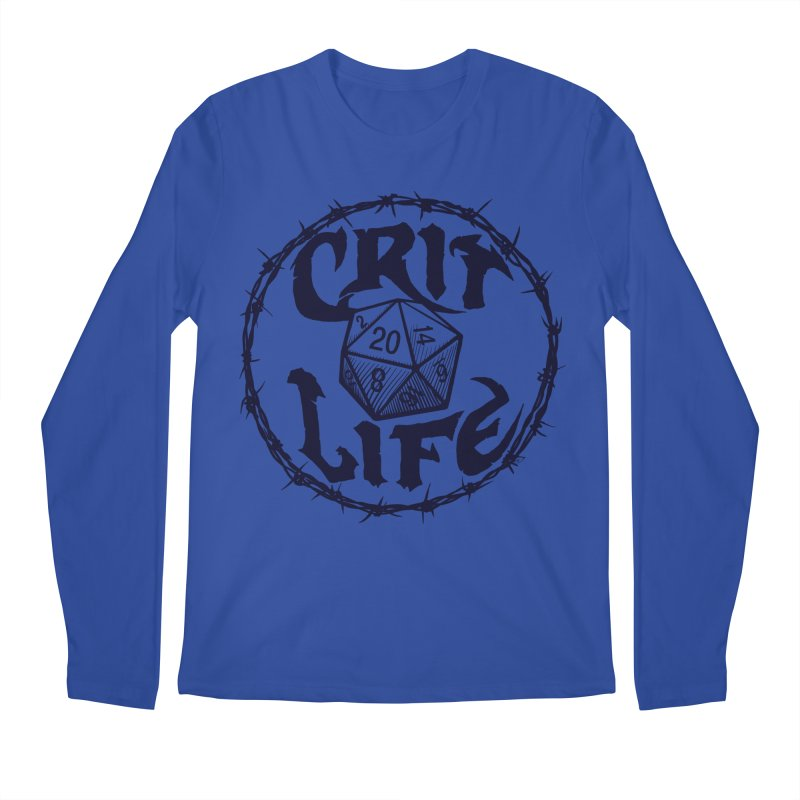 Crit Life (Dark on Light) Men's Regular Longsleeve T-Shirt by Joe Abboreno's Artist Shop