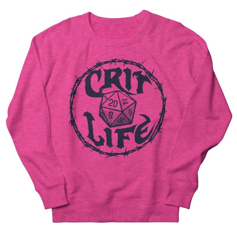 Crit Life (Dark on Light) Men's French Terry Sweatshirt by Joe Abboreno's Artist Shop