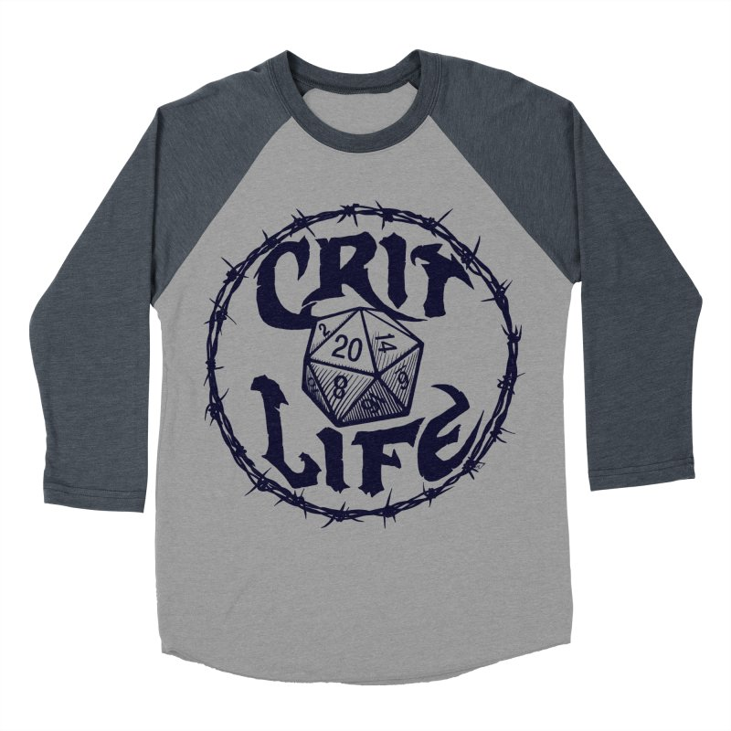 Crit Life (Dark on Light) Men's Baseball Triblend Longsleeve T-Shirt by Joe Abboreno's Artist Shop