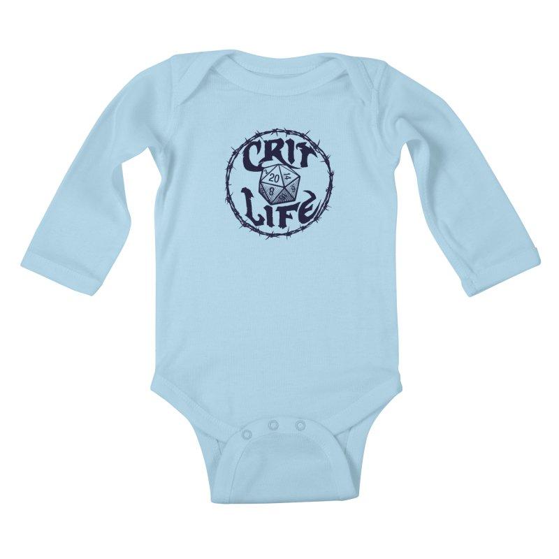 Crit Life (Dark on Light) Kids Baby Longsleeve Bodysuit by Joe Abboreno's Artist Shop