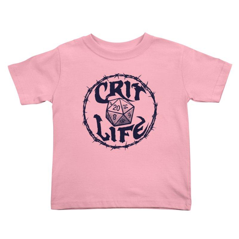 Crit Life (Dark on Light) Kids Toddler T-Shirt by Joe Abboreno's Artist Shop
