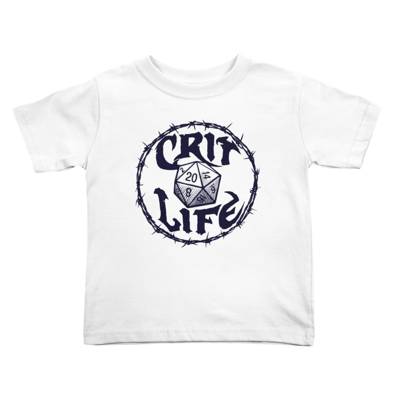 Crit Life (Dark on Light) Kids Toddler T-Shirt by Joe Abboreno's Artist Shop