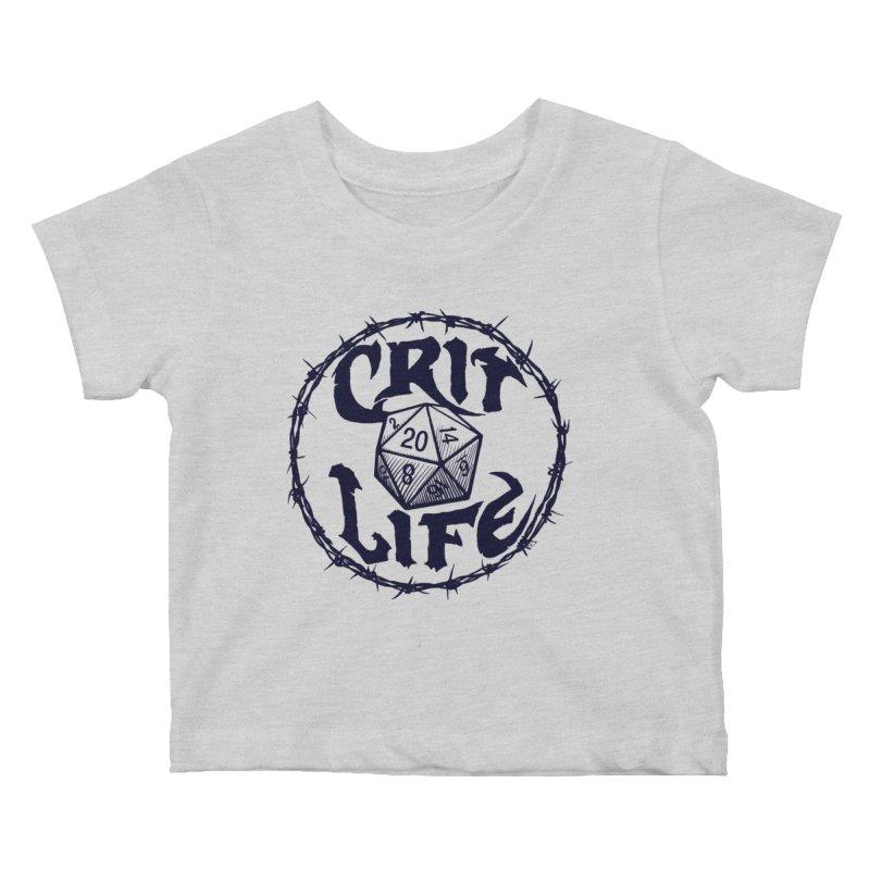 Crit Life (Dark on Light) Kids Baby T-Shirt by Joe Abboreno's Artist Shop