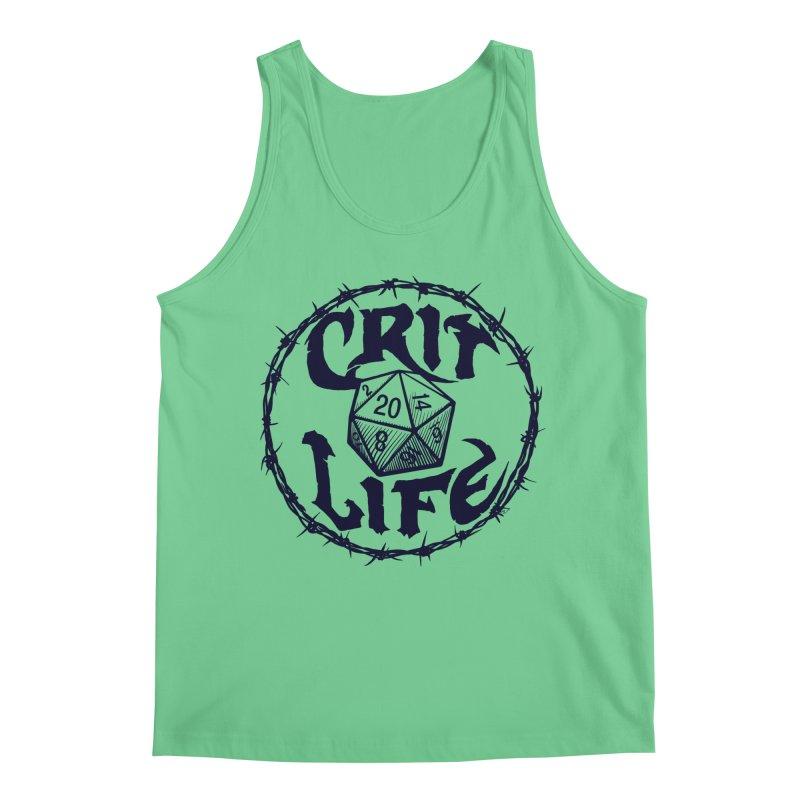 Crit Life (Dark on Light) Men's Regular Tank by Joe Abboreno's Artist Shop