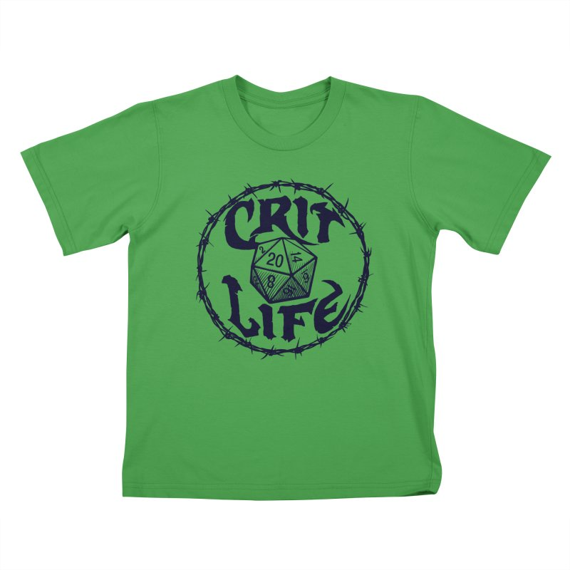 Crit Life (Dark on Light) Kids T-Shirt by Joe Abboreno's Artist Shop