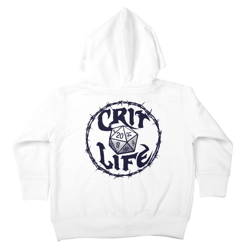 Crit Life (Dark on Light) Kids Toddler Zip-Up Hoody by Joe Abboreno's Artist Shop