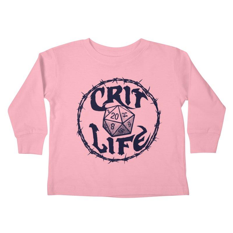 Crit Life (Dark on Light) Kids Toddler Longsleeve T-Shirt by Joe Abboreno's Artist Shop