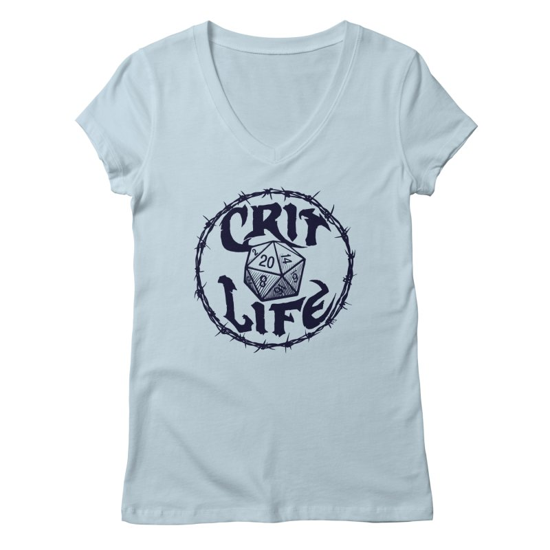 Crit Life (Dark on Light) Women's Regular V-Neck by Joe Abboreno's Artist Shop