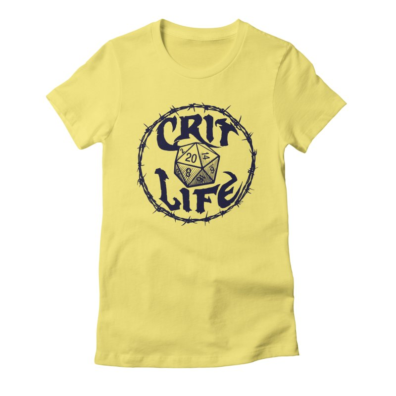 Crit Life (Dark on Light) Women's Fitted T-Shirt by Joe Abboreno's Artist Shop