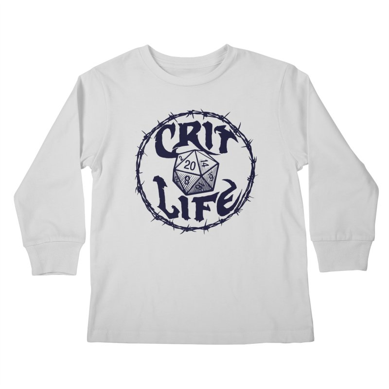 Crit Life (Dark on Light) Kids Longsleeve T-Shirt by Joe Abboreno's Artist Shop