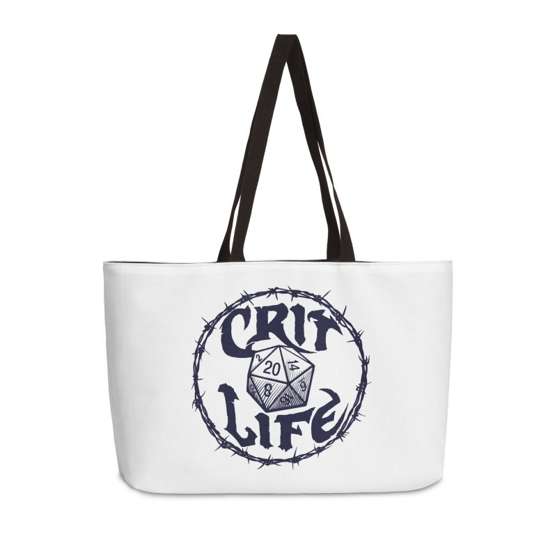 Crit Life (Dark on Light) Accessories Weekender Bag Bag by Joe Abboreno's Artist Shop