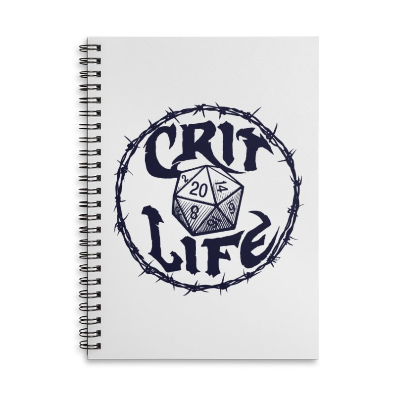 Crit Life (Dark on Light) Accessories Lined Spiral Notebook by Joe Abboreno's Artist Shop