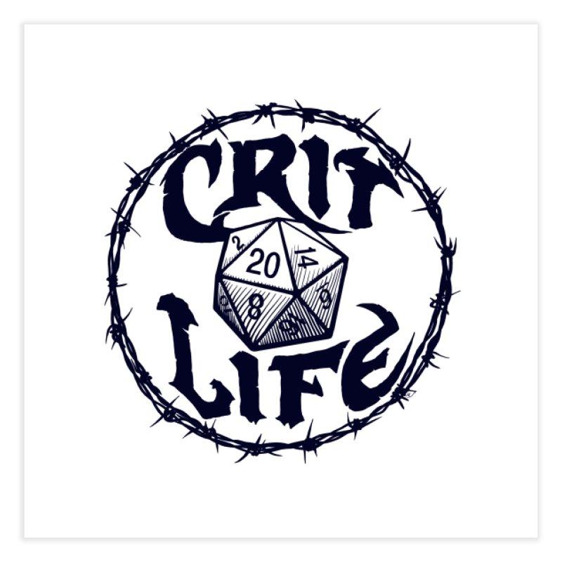 Crit Life (Dark on Light) Home Fine Art Print by Joe Abboreno's Artist Shop