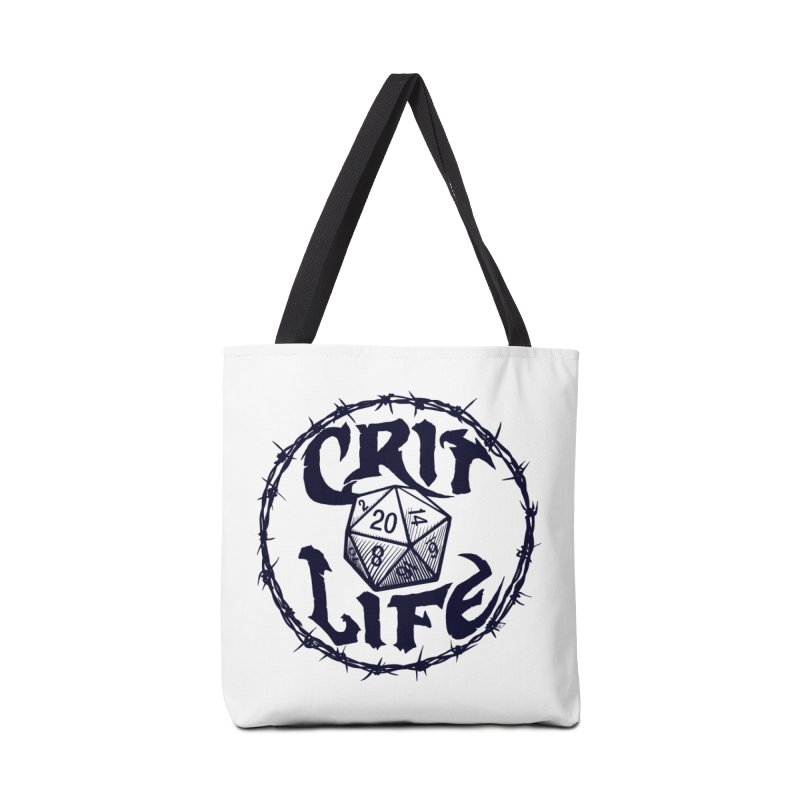 Crit Life (Dark on Light) Accessories Tote Bag Bag by Joe Abboreno's Artist Shop