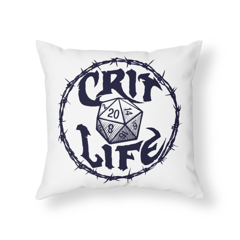 Crit Life (Dark on Light) Home Throw Pillow by Joe Abboreno's Artist Shop