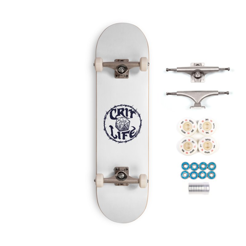 Crit Life (Dark on Light) Accessories Complete - Premium Skateboard by Joe Abboreno's Artist Shop