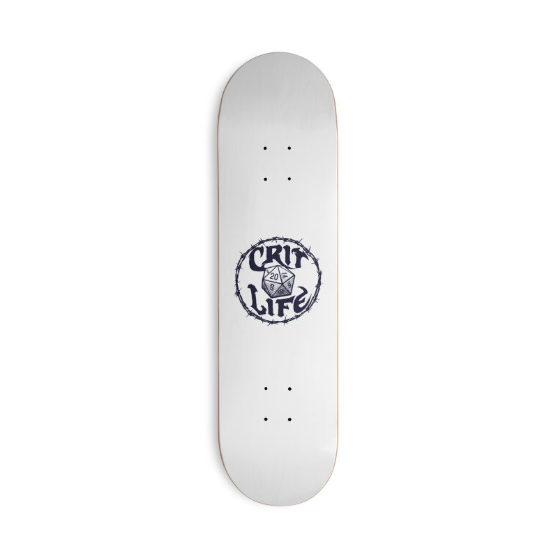 Crit Life (Dark on Light) Accessories Deck Only Skateboard by Joe Abboreno's Artist Shop