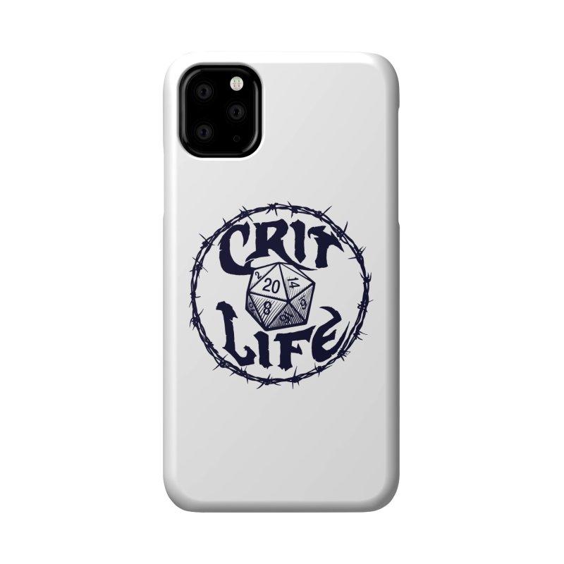 Crit Life (Dark on Light) Accessories Phone Case by Joe Abboreno's Artist Shop