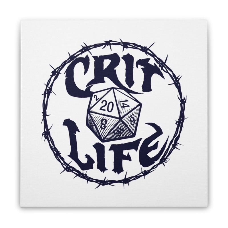 Crit Life (Dark on Light) Home Stretched Canvas by Joe Abboreno's Artist Shop