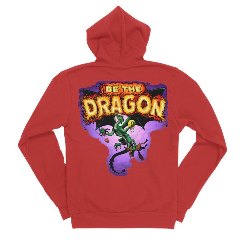 Be the Dragon Men's Sponge Fleece Zip-Up Hoody by Joe Abboreno's Artist Shop