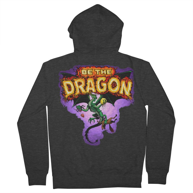 Be the Dragon Men's French Terry Zip-Up Hoody by Joe Abboreno's Artist Shop