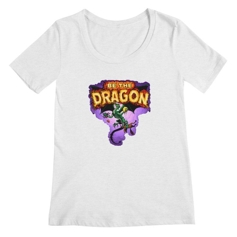 Be the Dragon Women's Regular Scoop Neck by Joe Abboreno's Artist Shop