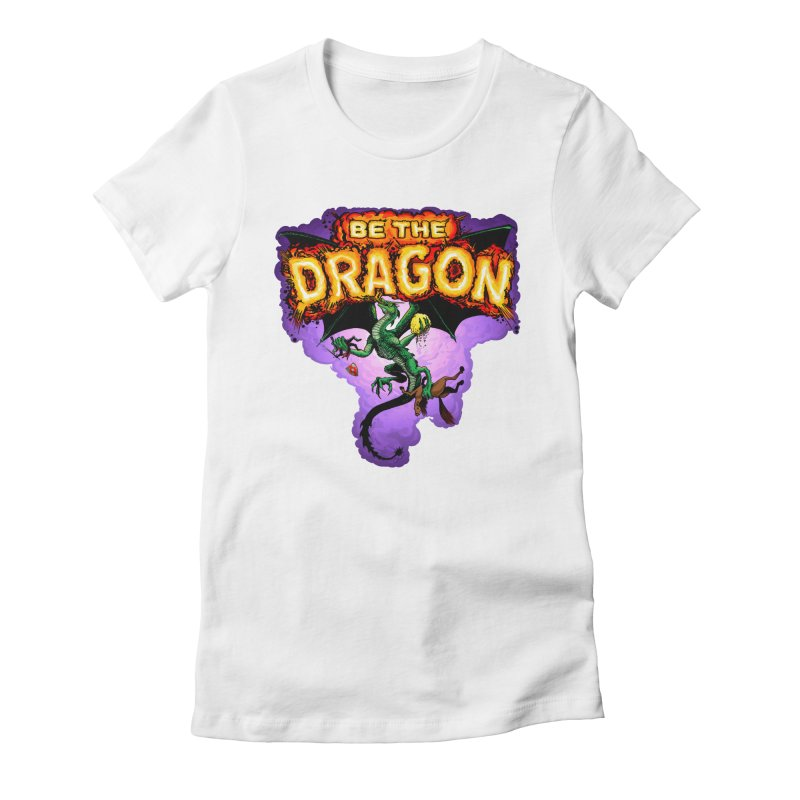 Be the Dragon Women's Fitted T-Shirt by Joe Abboreno's Artist Shop