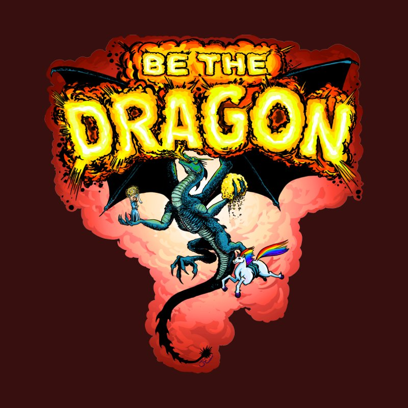 Be the Dragon! Save the Princess! Raise Up the Unicorns! Men's T-Shirt by Joe Abboreno's Artist Shop