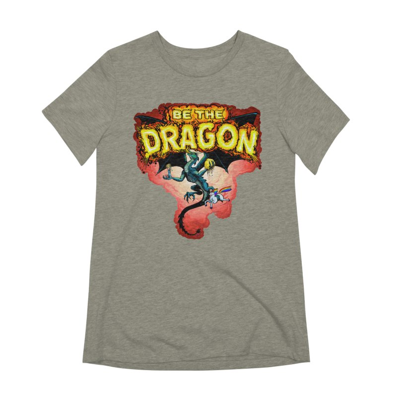 Be the Dragon! Save the Princess! Raise Up the Unicorns! Women's Extra Soft T-Shirt by Joe Abboreno's Artist Shop