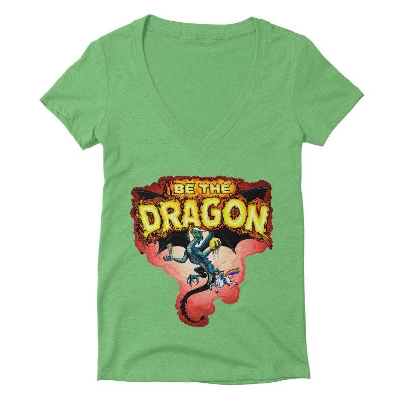 Be the Dragon! Save the Princess! Raise Up the Unicorns! Women's Deep V-Neck V-Neck by Joe Abboreno's Artist Shop