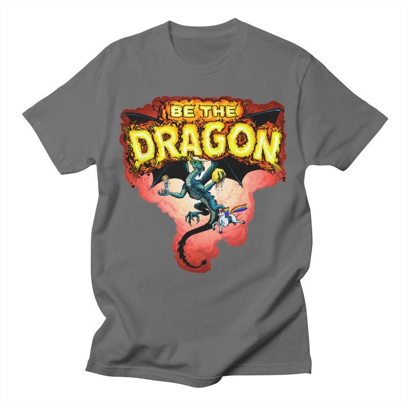 Be the Dragon! Save the Princess! Raise Up the Unicorns! Men's T-Shirt by Joe Abboreno's Artist Shop