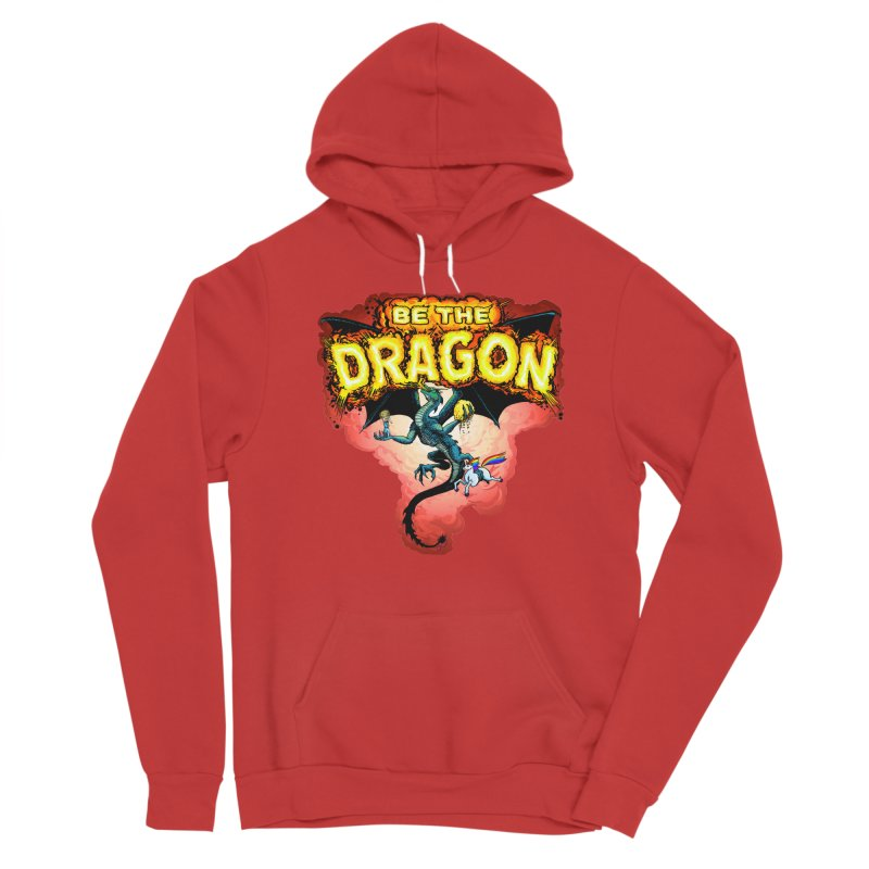 Be the Dragon! Save the Princess! Raise Up the Unicorns! Men's Sponge Fleece Pullover Hoody by Joe Abboreno's Artist Shop