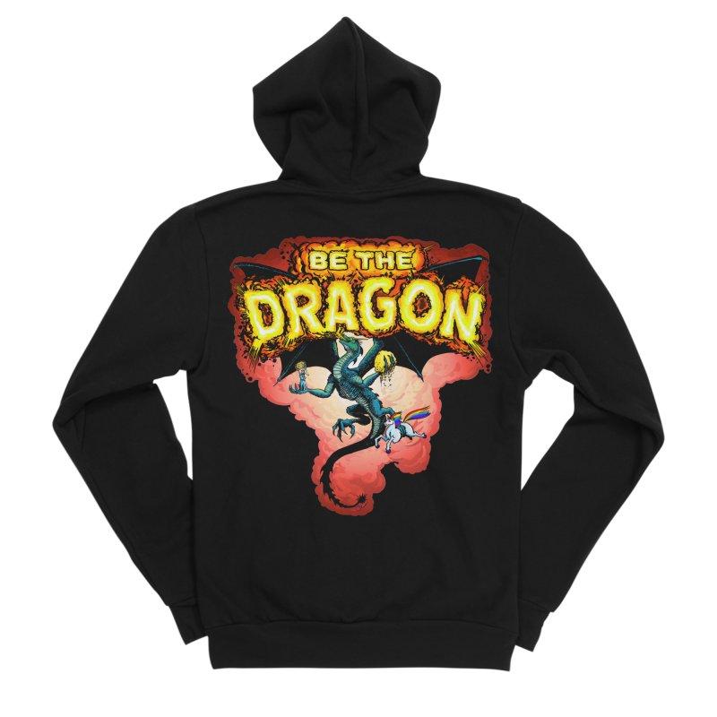 Be the Dragon! Save the Princess! Raise Up the Unicorns! Men's Sponge Fleece Zip-Up Hoody by Joe Abboreno's Artist Shop