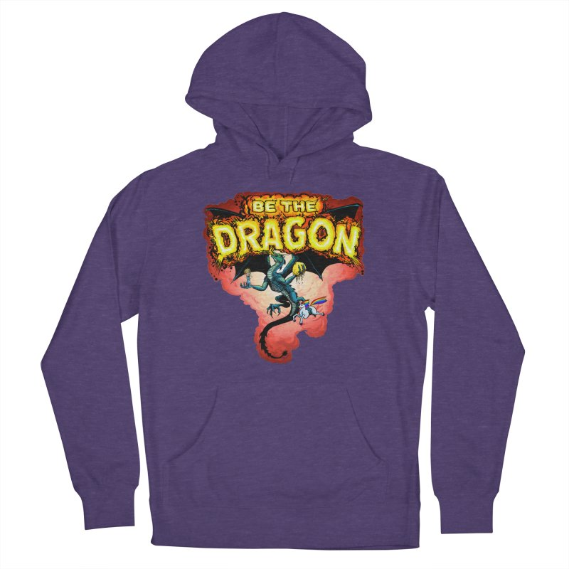 Be the Dragon! Save the Princess! Raise Up the Unicorns! Men's French Terry Pullover Hoody by Joe Abboreno's Artist Shop