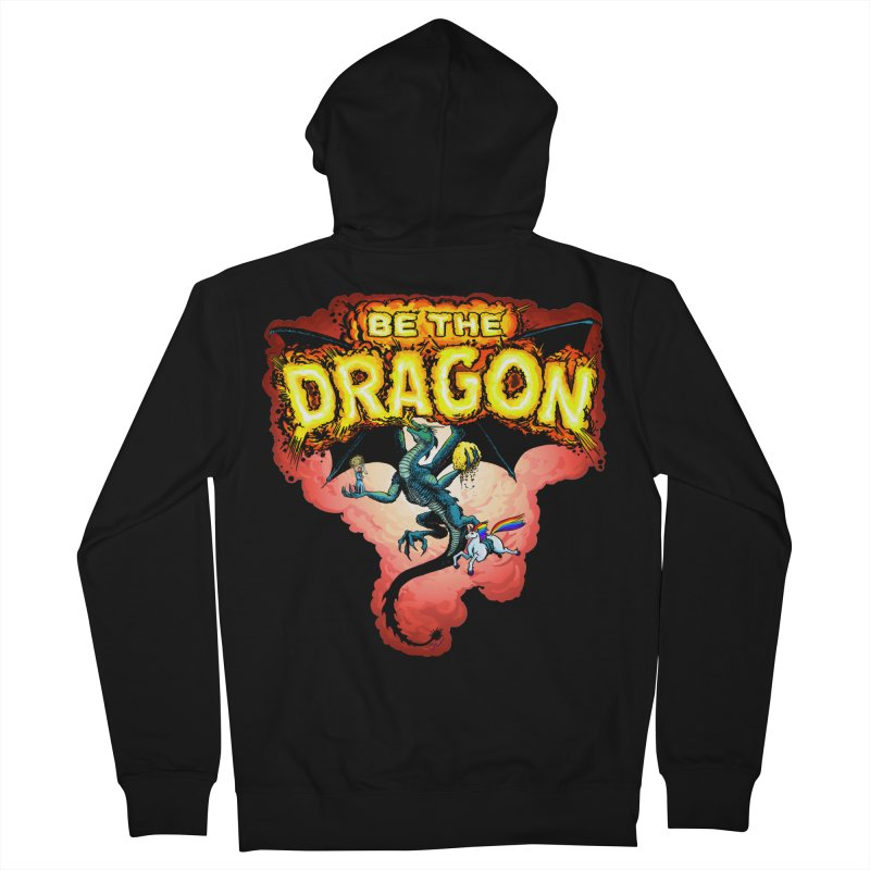 Be the Dragon! Save the Princess! Raise Up the Unicorns! Women's French Terry Zip-Up Hoody by Joe Abboreno's Artist Shop